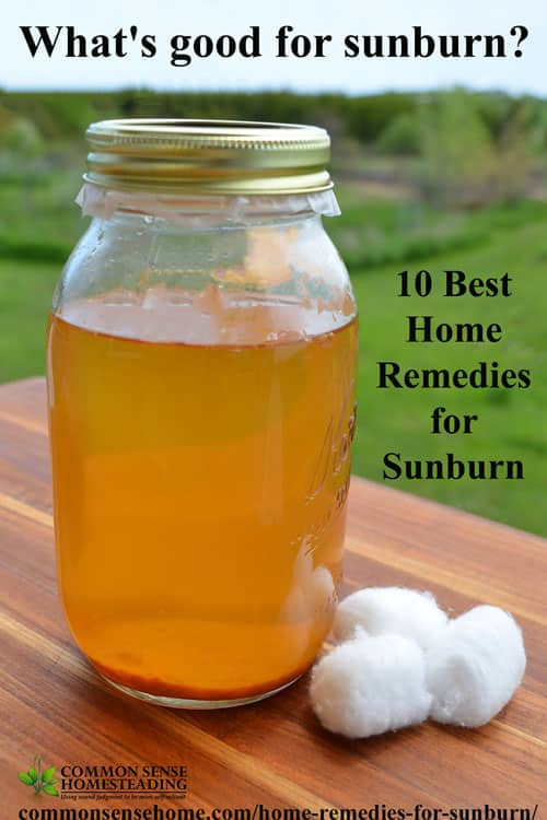 Home Remedies for Sunburn - 10 Best Sunburn Remedies to help bring relief from sunburn pain and speed healing from your face to your toes.