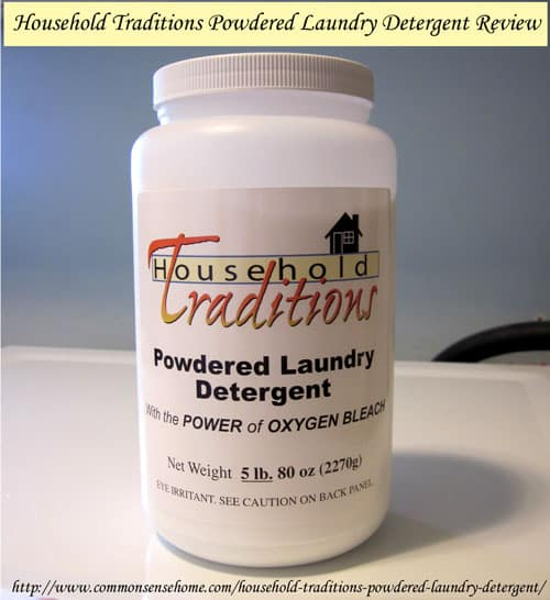 Household Traditions Powdered Laundry Detergent