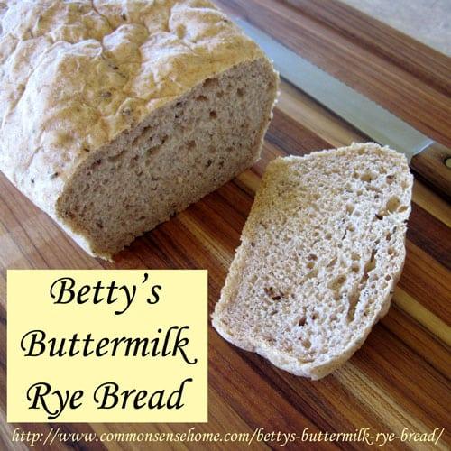 Betty's Buttermilk Rye Bread @ Common Sense Homesteading