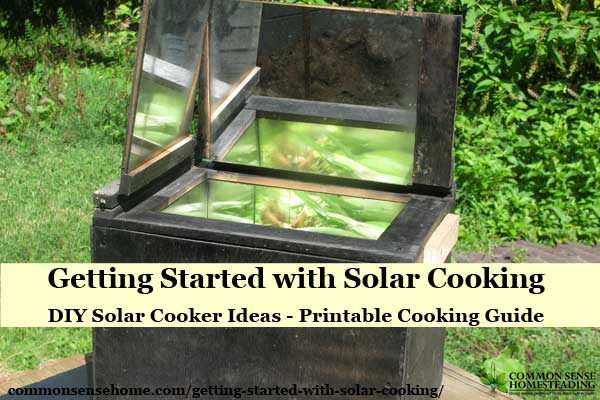 Solar Cooking Basics - Easy Solar Cooker Designs, How to Cook Food in a Solar Oven, Basic Solar Cooking Recipes to get you started, printable cooking guide.