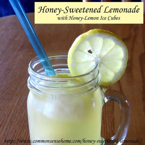 Honey-Sweetened Lemonade with Honey-Lemon Ice Cubes
