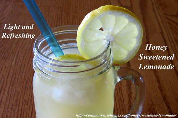 Honey-Sweetened Lemonade with Honey-Lemon Ice Cubes. Light, refreshing, easy lemonade recipe with ice cubes that are also great for use in iced teas.