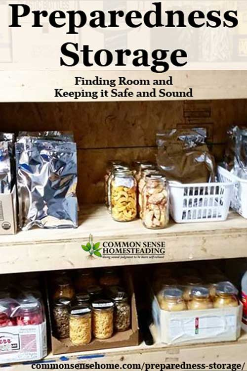 Preparedness Storage - ideas for where to stash your preparedness storage (and general food storage), and tips for keeping it usable.