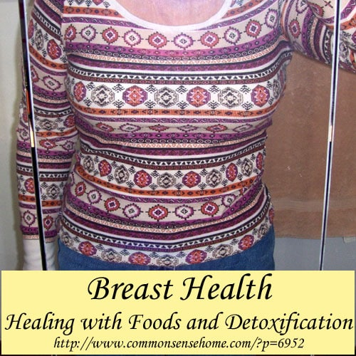 Breast Health - Key foods and nutrients to help nourish your breasts. Different methods of detoxification to help remove toxins from the breast area.