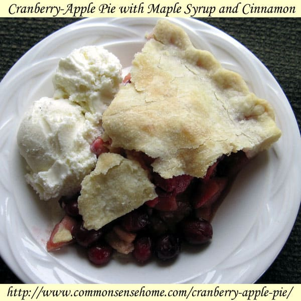 Cranberry-Apple Pie with Maple Syrup and Cinnamon