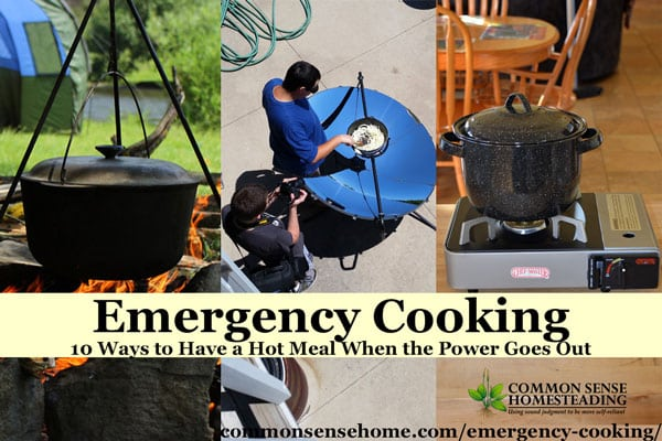 Emergency Cooking - everything from simple heating to large scale cooking for emergency situations. Cooking options for inside and outside use.