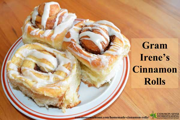 Gram Irene's Homemade Cinnamon Rolls with Caramel-Pecan Sauce or Vanilla Icing. Treat your family with fresh from the oven warm, gooey cinnamon rolls.