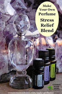 homemade perfume with essential oils - stress relief blend