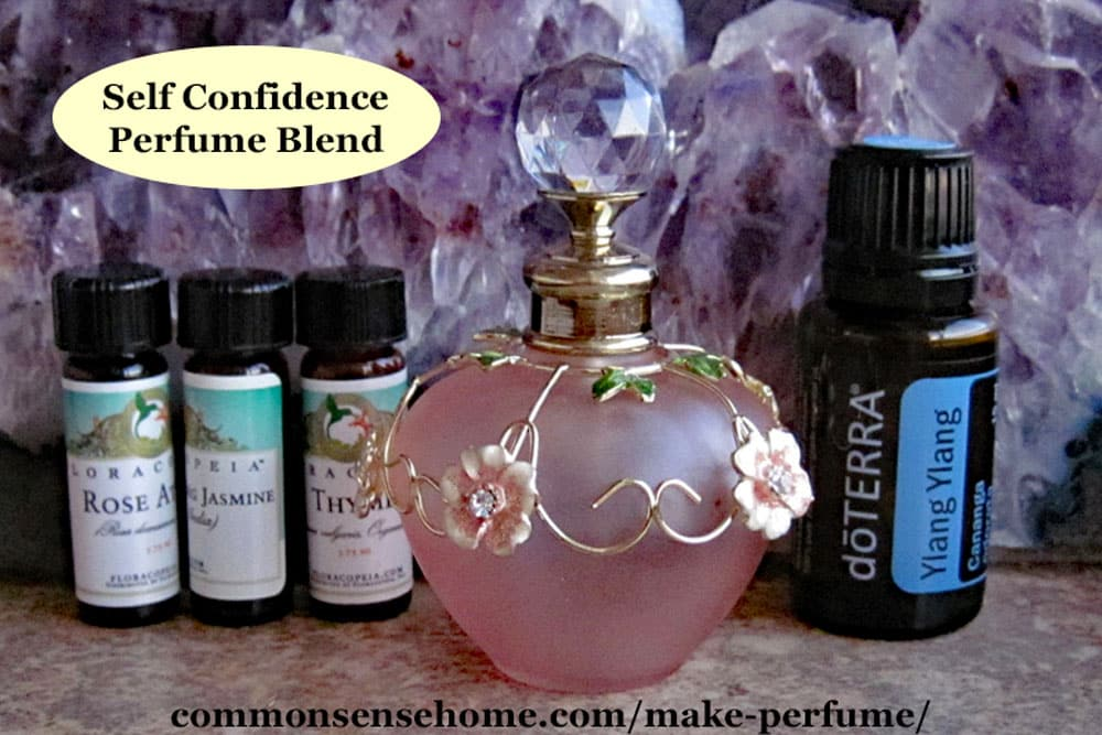 homemade perfume with essential oils