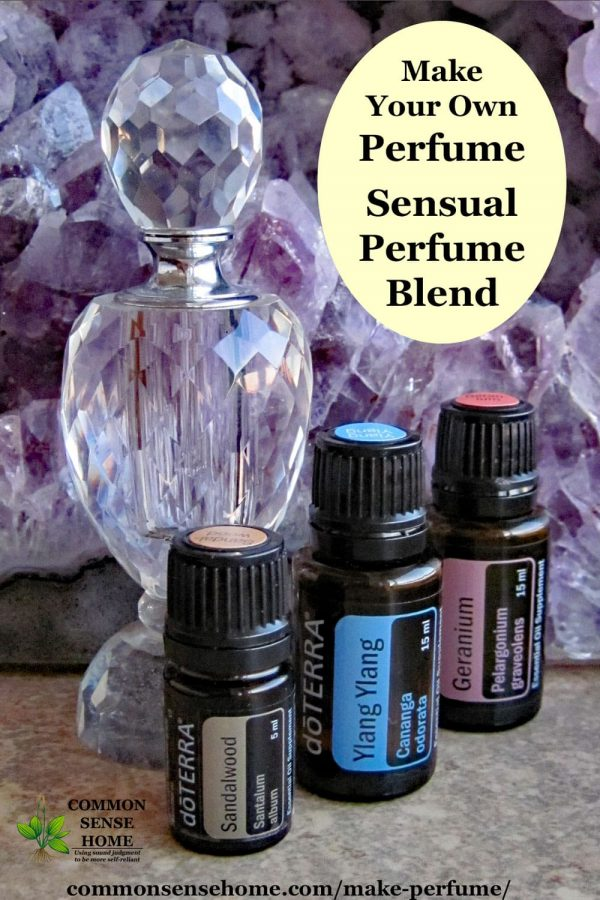 homemade perfume with essential oils- sensual blend