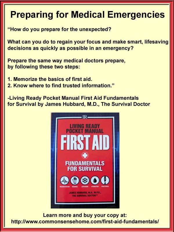 Living Ready Pocket Manual - First Aid Fundamentals for Survival extremely practical addition to every home library and preparedness kit.