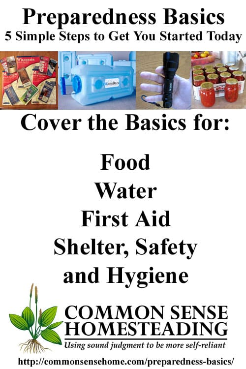 Preparedness Basics - Simple steps to be ready for stressful times. Make better decisions, have more options and possibly save yourself some money.