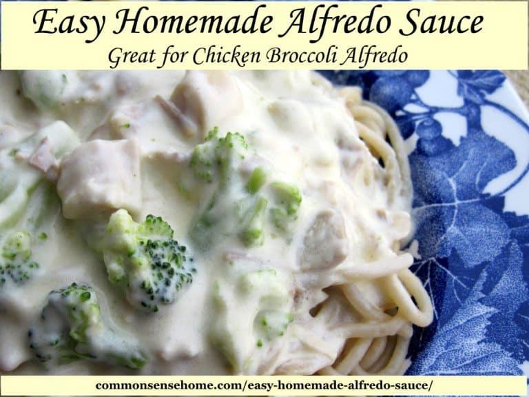 Easy Homemade Alfredo Sauce – Great for Chicken Broccoli Alfredo