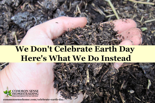 My family doesn't celebrate Earth Day, but we do our best to be good stewards every day. Small changes can save money and reduce your environmental impact.