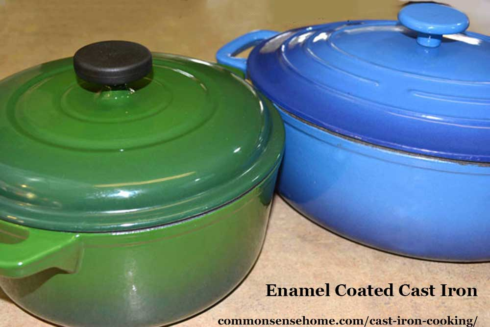 Enamel coated cast iron