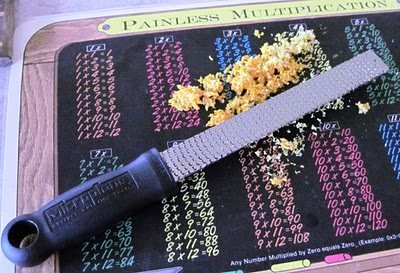 microplane grater with citrus zest for dandelion wine