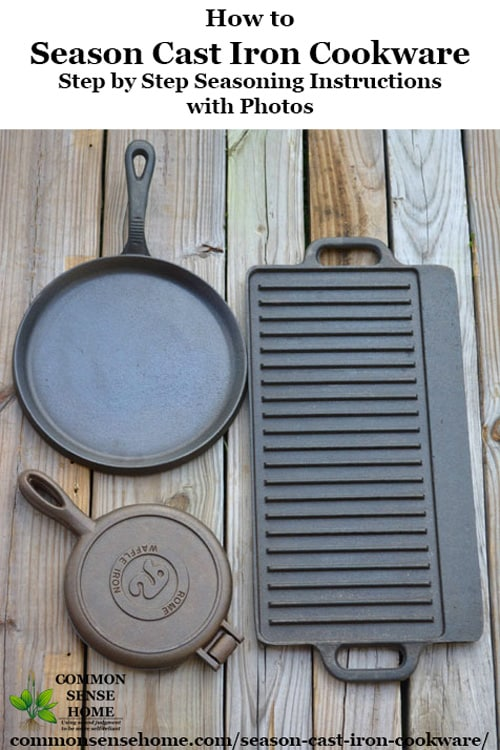 How to season cast iron cookware so that it will have a non-stick surface. Can be used for old, rusted cast iron that needs to be stripped and re-seasoned, or new cast iron that needs seasoning.