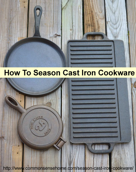 how to clean and season old cast iron