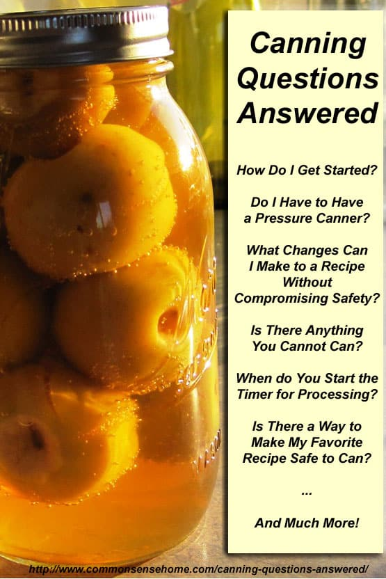 Canning Questions Answered – A Great Canning Resource