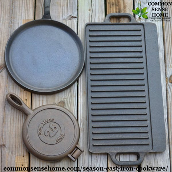 How to Season Cast Iron Cookware - Step by Step Seasoning Instructions