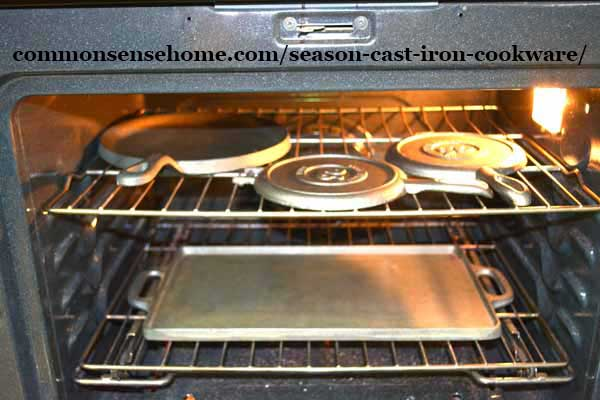 preheating cast iron before seasoning