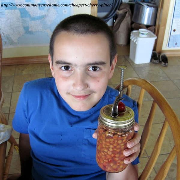 Jar Top Cherry Pitter