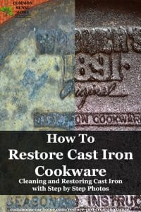 vintage cast iron before and after restoration