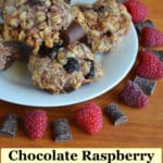 chocolate raspberry granola cookies