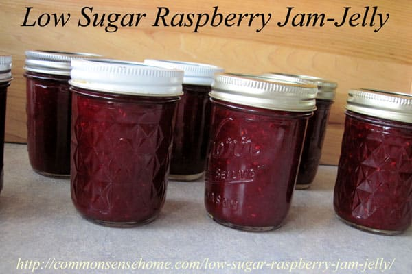 The easy Low Sugar Raspberry Jam-Jelly is bursting with berry flavor ...