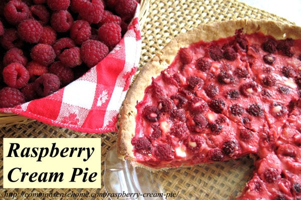 Raspberry Cream Pie - Passed down from my mother, this smooth and rich raspberry cream pie is a delicious, not too sweet way to enjoy this wonderful summer fruit. Includes a gluten free option. #pie