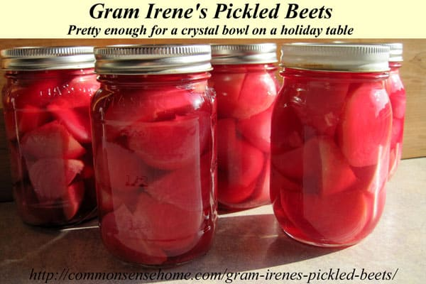 Gram Irene's Pickled Beets - Pickled beet recipe that's pretty enough for a crystal bowl on a holiday table but easy enough to enjoy anytime.