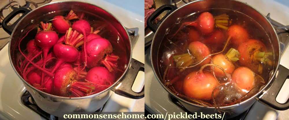 boiled beets to make pickled beets