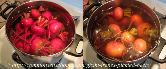 Preparing beets for pickling