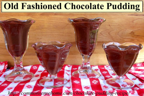 Old Fashioned Cooked Chocolate Pudding Recipe - like momma used to make, for pudding that tastes the way pudding is supposed to taste.