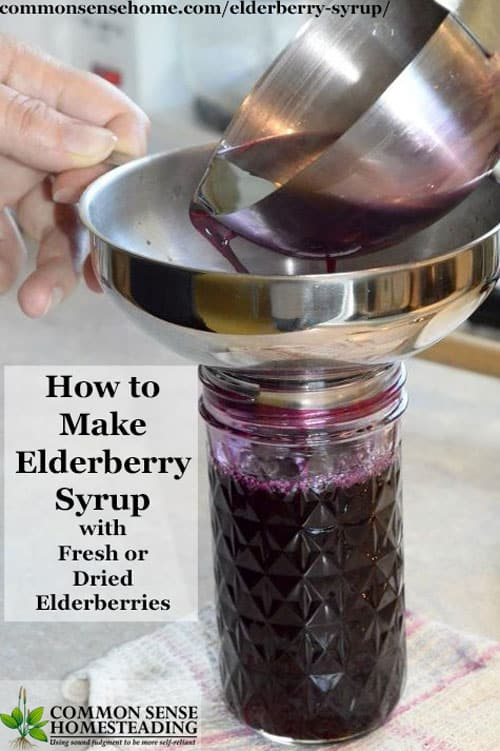 Easy, homemade elderberry syrup recipes for colds and cough. Give your kids elderberry syrup you can trust made with real elderberry and nothing artificial.
