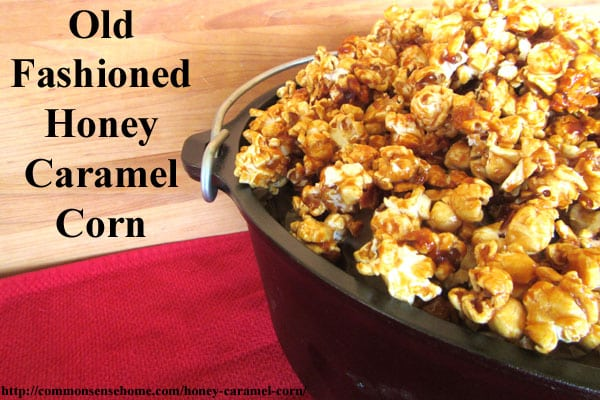 Old Fashioned Honey Caramel Corn Recipe - This honey caramel corn is light, buttery and delicious.