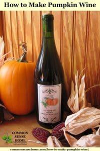 pumpkin wine with pumpkin and dried corn
