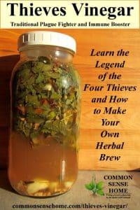 thieves vinegar jar