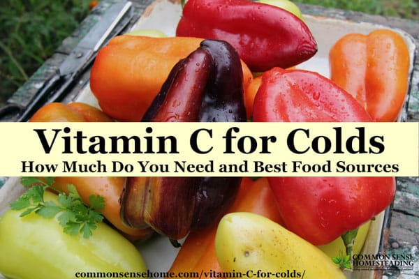 Vitamin C for Colds - how much and where to get it, plus vitamin D and zinc sources to round out your cold and flu fighting arsenal.