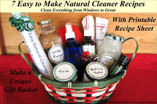 DIY Natural Cleaners Made with Essential Oils - 7 Easy Recipes to Help You Clean Everything from Windows to Grout - Includes Printable Recipe Sheet