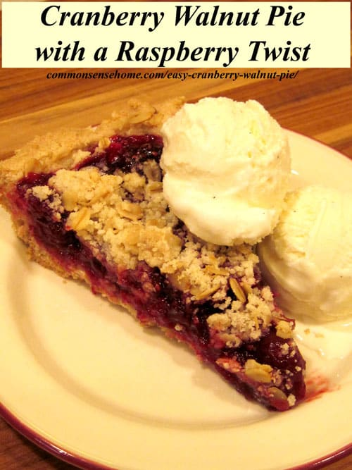 "Easy Cranberry Walnut Pie - Cranberries and walnuts team up with a ""secret"" ingredient that will win over even non-cranberry lovers."