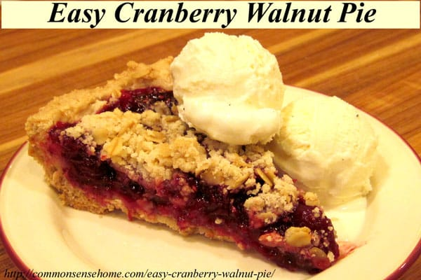 "Easy Cranberry Walnut Pie and Epic Kitchen Giveaway- Cranberries and walnuts team up with a ""secret"" ingredient that will win over even non-cranberry lovers"