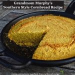 Authentic Southern Style Cornbread, savory, not sweet, made with only cornmeal - no added wheat flour. #glutenfree