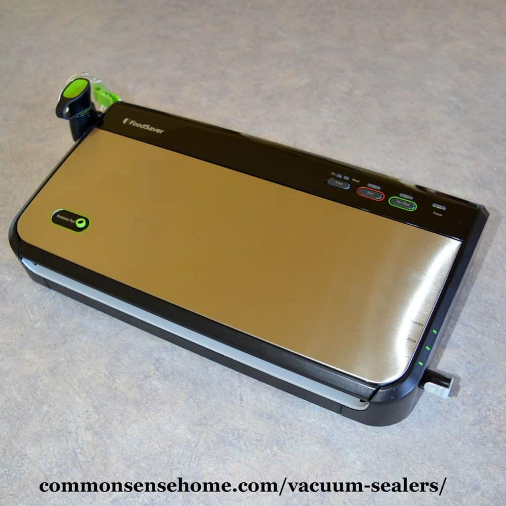 FoodSaver Vacuum Sealer with stainless steel finish