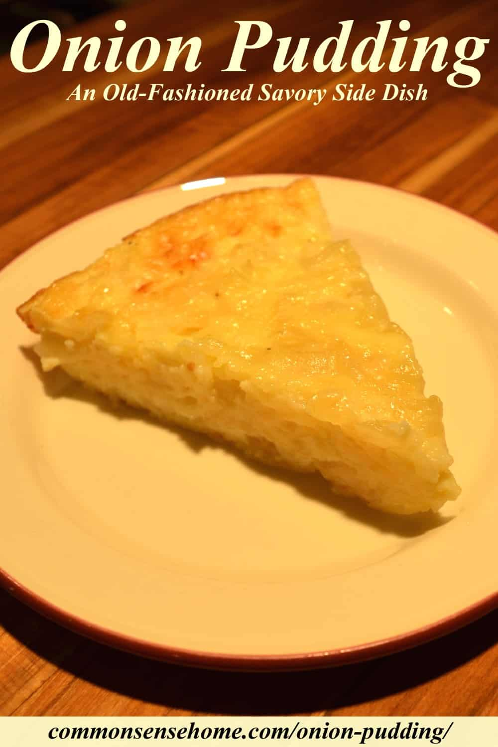 onion pudding slice