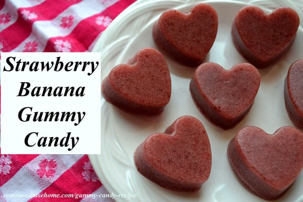 Strawberry Banana Homemade Gummy Candy Recipe