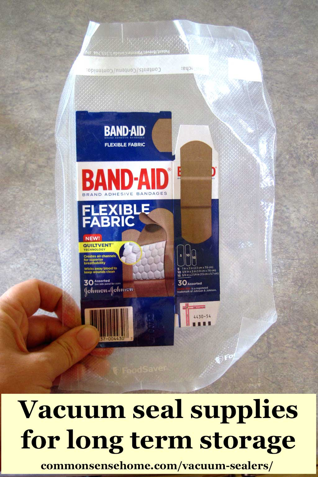 vacuum sealed band-aids