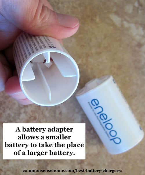 Battery converters/adapters can be used to allow a smaller battery to replace a larger battery.