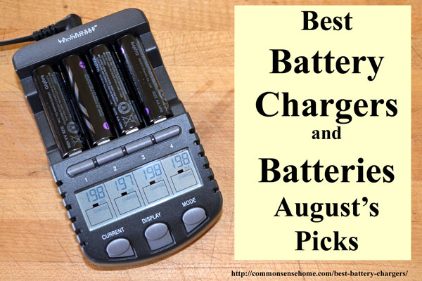 Battery Chargers, Power Packs, Solar Chargers and Emergency Radios with Chargers, Rechargeable Batteries, Non-rechargeable Batteries, Battery Storage Units - Out Top Picks