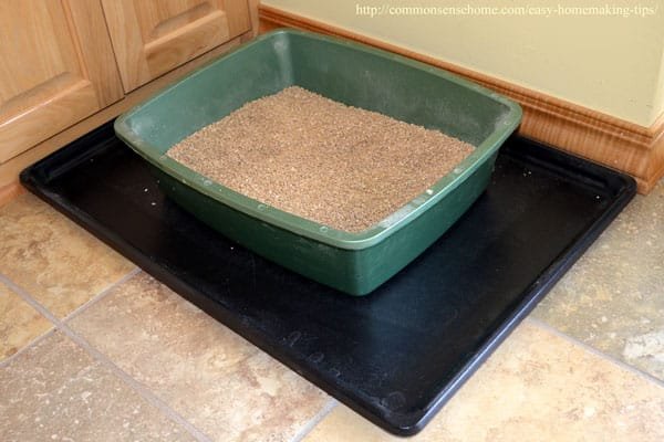 Tray to contain litter box mess